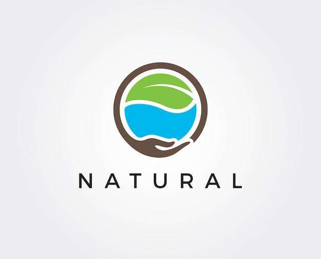 最小限の自然なロゴテンプレート
