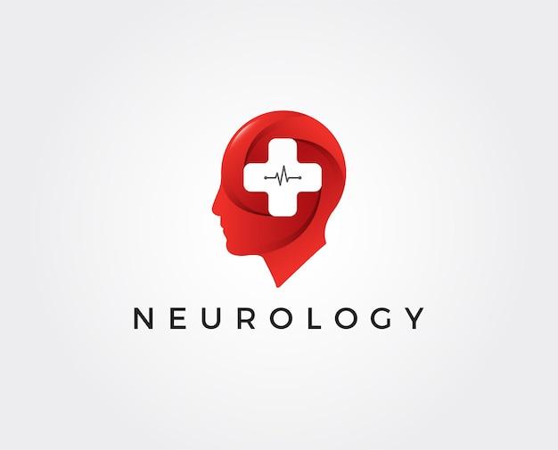 Minimal neurology logo template