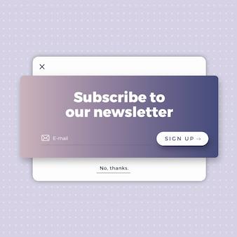 Minimal newsletter form