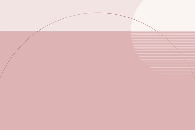 Minimal nordic style moon background vector in nude pink