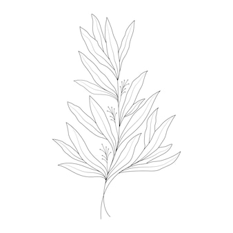 라인 아트 스타일의 최소한의 한 선 그리기 꽃 그림