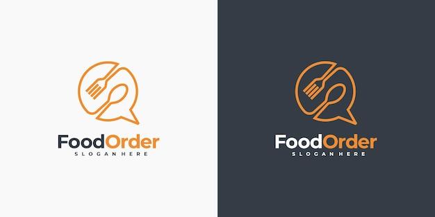 最小限のオンライン食品注文ロゴ