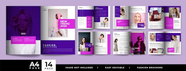 Minimal pages fashion brochure design
