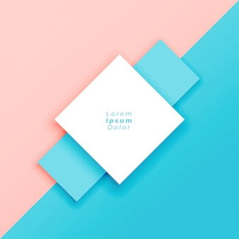 Minimal pastel background with text space