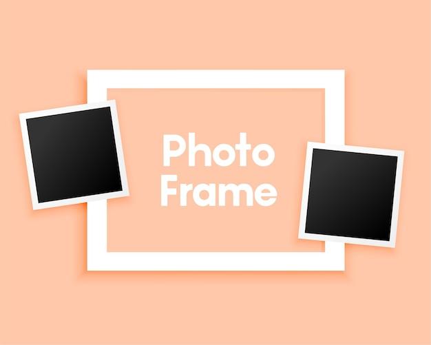 Minimal photo frames on pastel