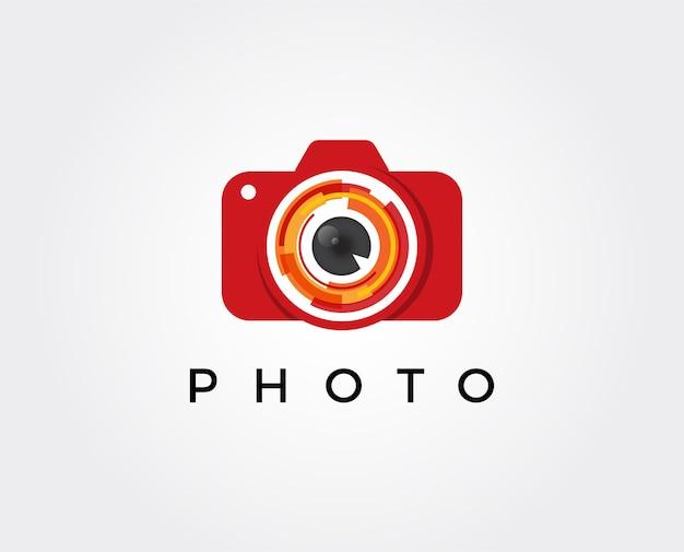 Minimal photography logo template Premium Vector