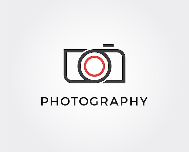Minimal photography logo template