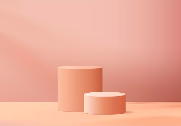 Minimal pink podium and scene with  render  in abstract abackground composition,  illustration scene geometry shape platform forms for product display. stage for product in modern.