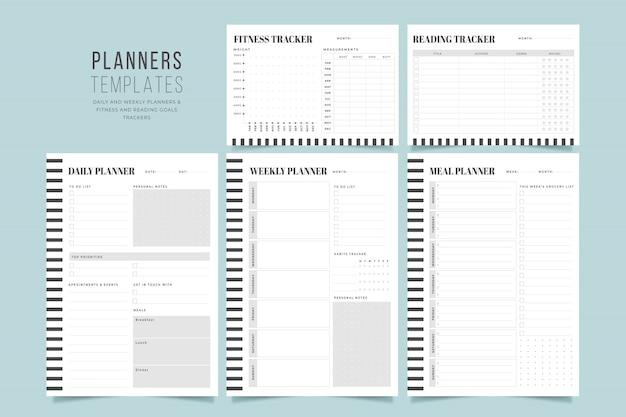 Minimal planner templates