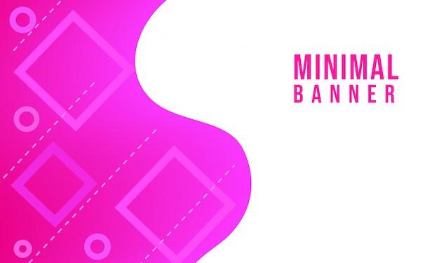 Minimal poster vector banner background