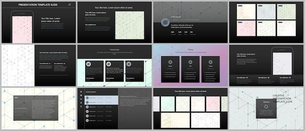 Minimal presentations templates