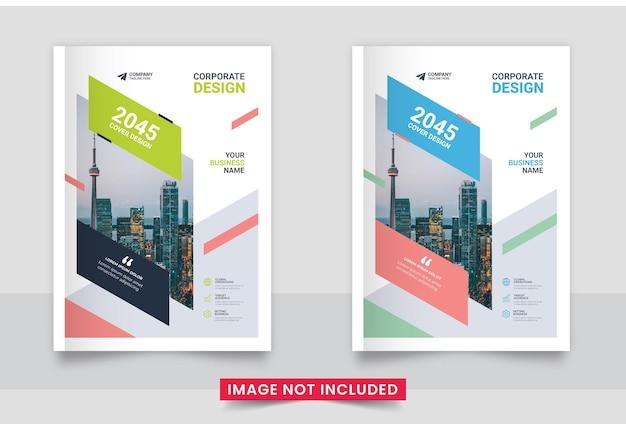 Minimal profesional corporate book cover design or annual report set