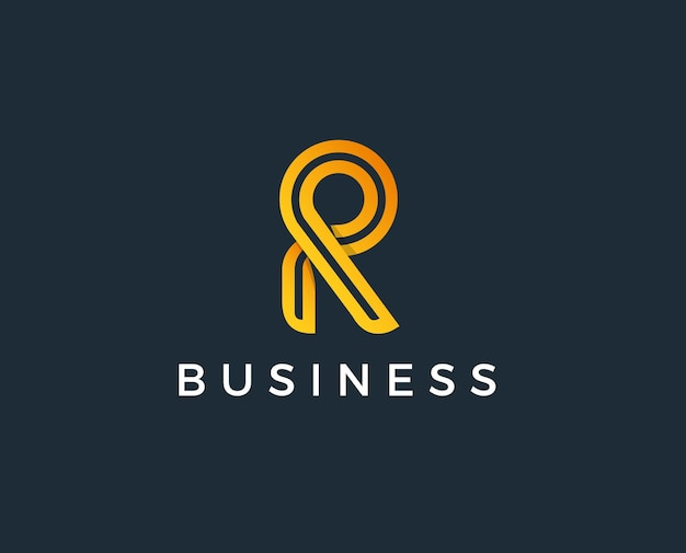 Minimal r letter logo template