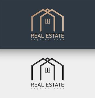 Минимальный шаблон логотипа недвижимости