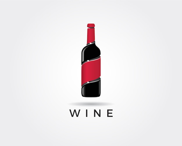 Minimal red wine logo template  illustration