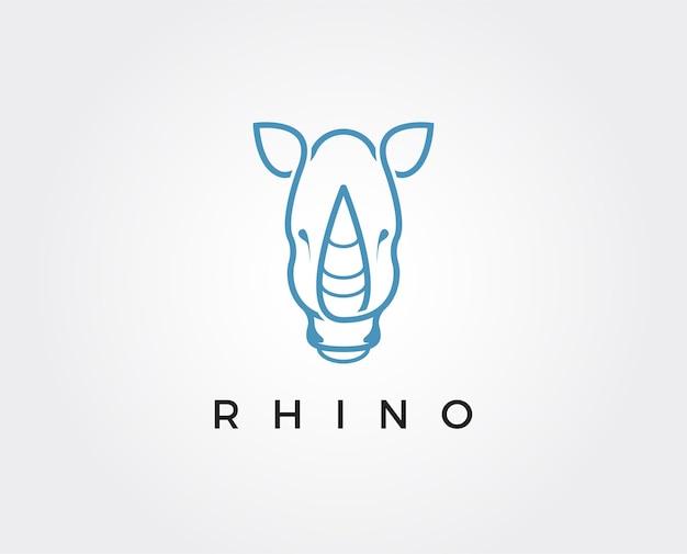 Minimal rhino logo template