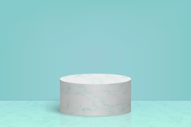 Minimal scene with marble stone podium, cosmetic product presentation background