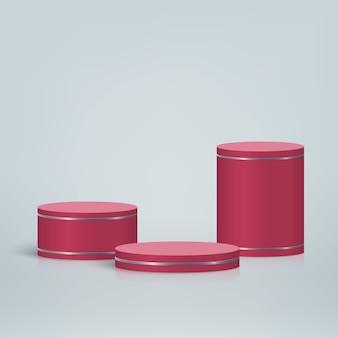 연단, 화장품 제품 프리젠 테이션 배경이있는 최소한의 장면
