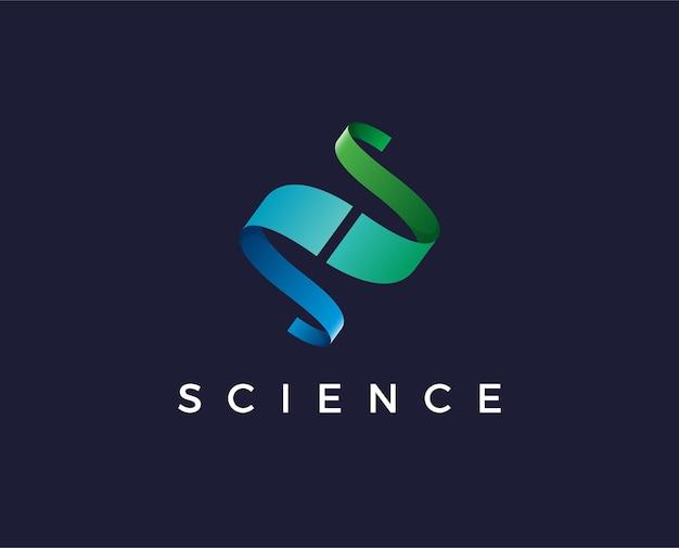 Minimal science logo template