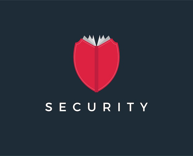 Minimal security book logo template