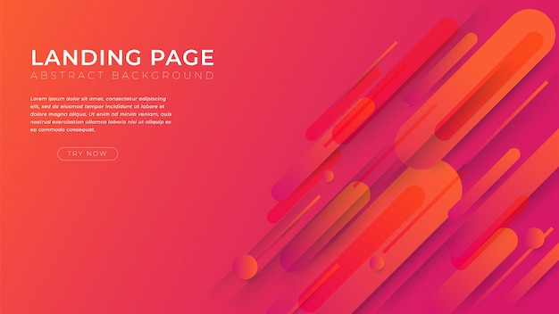 Minimal shapes and geometric background  landing page template for business website design.