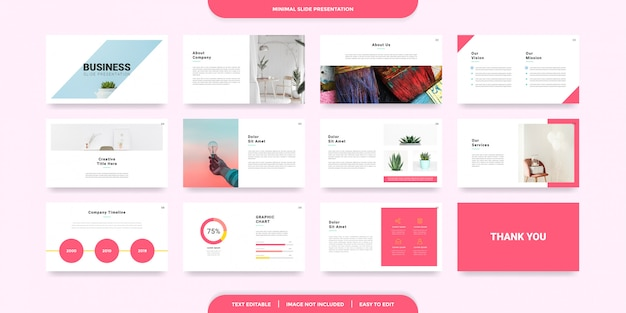 Minimal slides presentation template