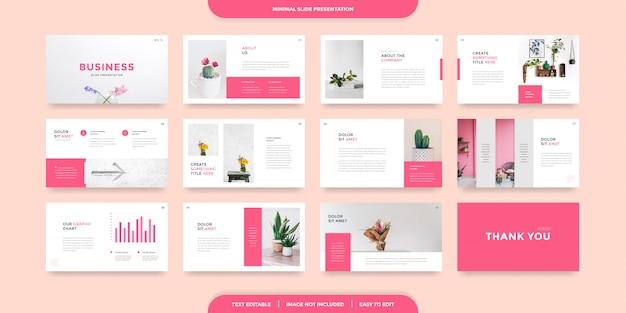 Minimal slides presentation template