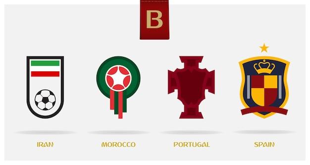 Minimal soccer or football logo