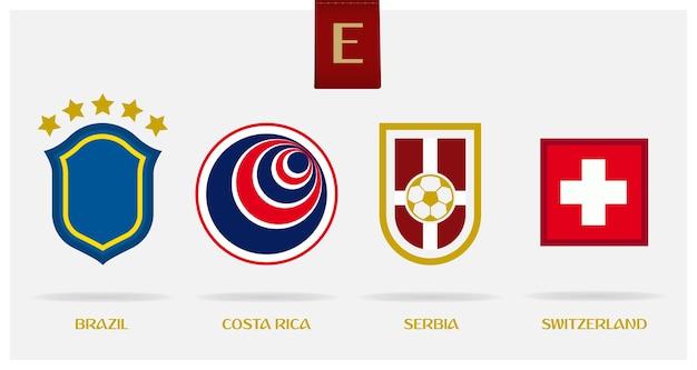 最小のサッカーまたはフットボールのロゴ