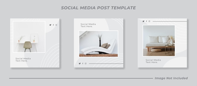 Minimal social media banner post template