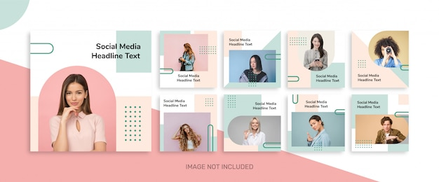 Minimal social media post template collection for instagram