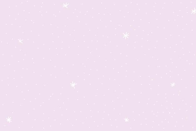 紫色の背景の壁紙と最小限の星のパターン