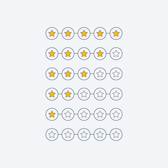 Minimal star rating customer feedback symbol