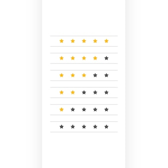 Minimal star rating symbol design