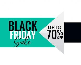 Minimal style black friday sale banner