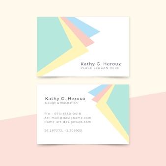 Шаблон визитной карточки в минималистском стиле