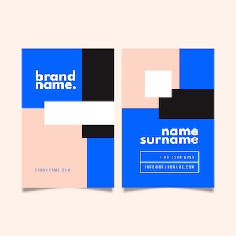 Minimal style for business card