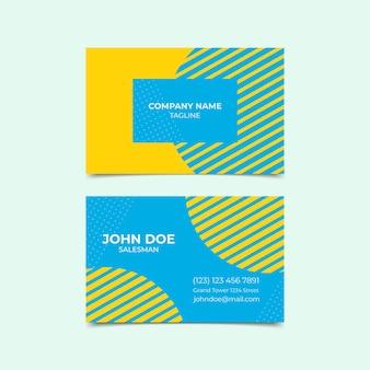 Визитная карточка в минималистском стиле