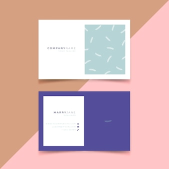 Minimal style for company business card