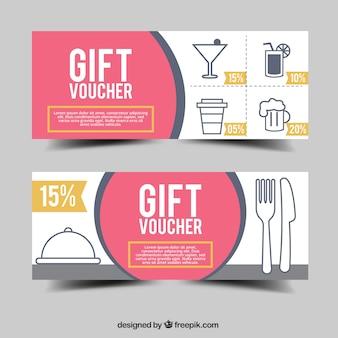 Minimal style gift voucher