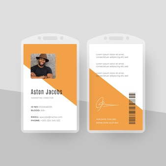 Minimal style id cards template with photo
