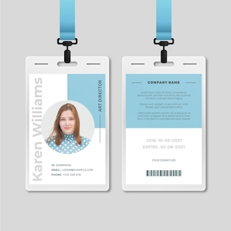 Minimal style id cards template