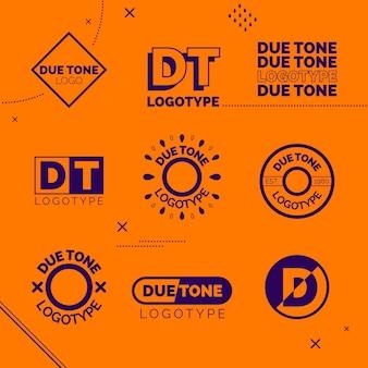 Collezione di logo in stile minimal in due colori