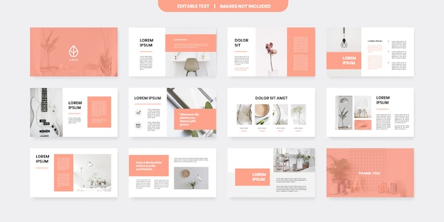 Minimal style powerpoint slides template