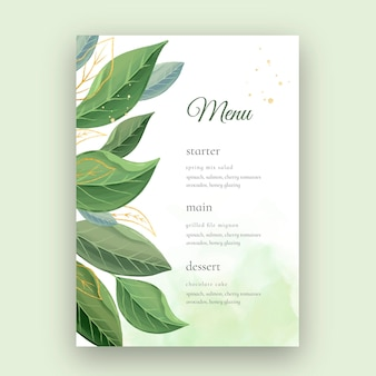 Свадебное меню в минималистском стиле