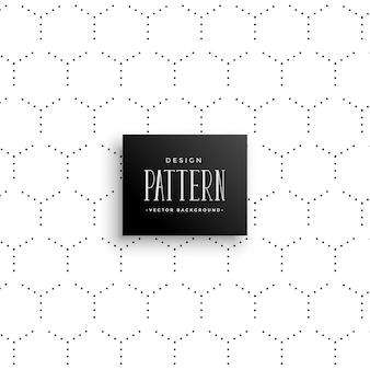 Minimal subtle hexagonal dots pattern background