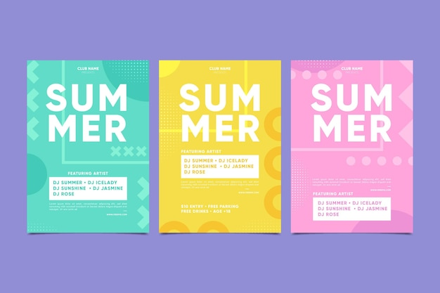 Minimal summer party poster