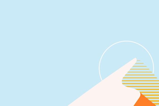 青で最小限の日没の山の背景ベクトル
