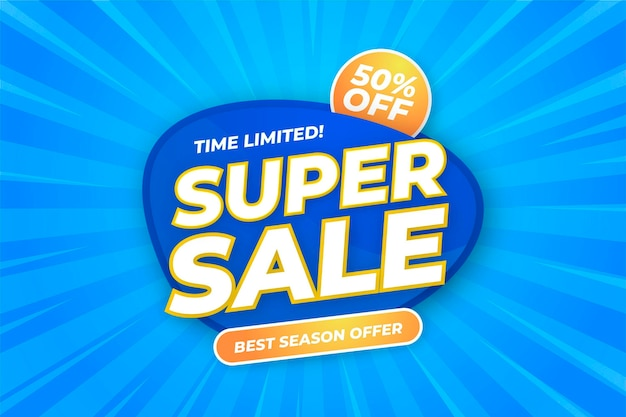 Minimal super sale background