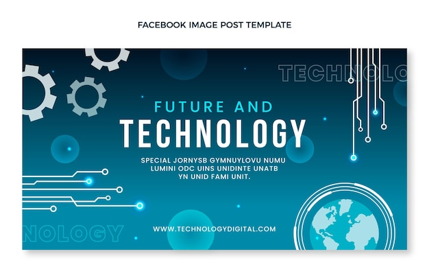 Minimal technology facebook post